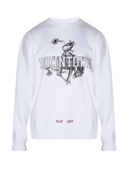 Off White Downtown Print Sweatshirt White Multi