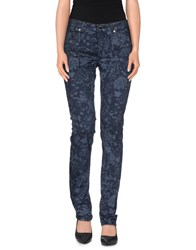 Camouflage Ar And J. Trousers Casual Trousers Women Slate Blue