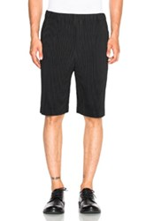 Issey Miyake Homme Plisse Pleated Shorts In Black