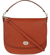 Coach Grained Leather Hobo Bag Li Carmine