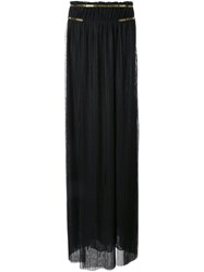 Jay Ahr Gold Tone Detail Pleated Skirt Black
