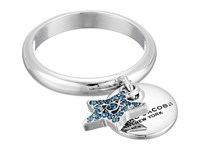 Marc Jacobs Mj Coin Charm Ring Blue Silver Ring Navy