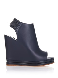 Balenciaga Open Toe Leather Wedges