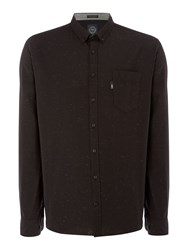Lindbergh Classic One Pocket Long Sleeve Shirt Black