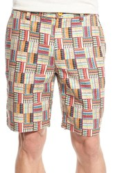 Men's Robert Graham 'Sedona' Patchwork Print Linen And Cotton Shorts