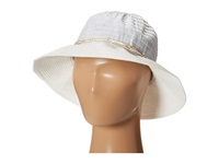 Tommy Bahama Lurex Ribbon Crown With Paperbraid Brim Bucket Hat Silver Bucket Caps