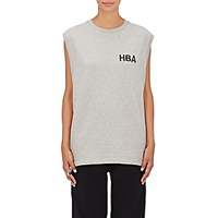 Hood By Air Women's Logo Embroidered Cotton Tank Grey