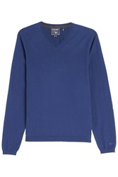 Woolrich Cotton Pullover Blue