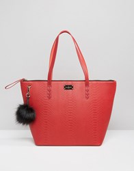 Paul's Boutique Pauls Conner Croc Tote Bag Red