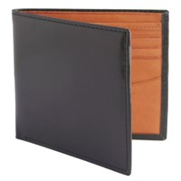 Estados Luxury Leather Mens Billfold Wallet Smooth Black And Tan