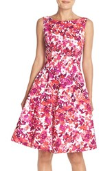 Women's Maggy London 'Cherry Blossom' Print Fit And Flare Dress