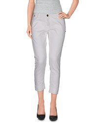 Annarita N. Trousers 3 4 Length Trousers Women White