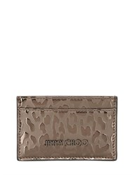 Jimmy Choo Embossed Metallic Leather Card Holder