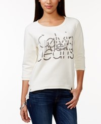 Calvin Klein Jeans Graphic Logo Crew Neck Sweater