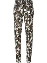 Giamba Floral Print Trousers Multicolour