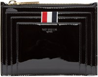 Thom Browne Black Patent Leather Small Coin Pouch