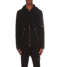 Blood Brother Utility Zip Detail Cotton Jersey Hoody Black