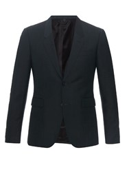 Burberry Single Breasted Mohair And Wool Blend Blazer Green
