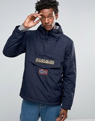 Napapijri Overhead Hooded Jacket Nylon Padded Blu Marine Navy