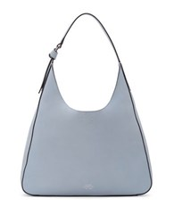 Vince Camuto Adria Top Grain Pebbled Leather Hobo Bag Chambray Blue