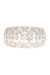 Elani Diamonds 10K White Gold Diamond Anniversary Ring Band 1.00 Ctw Metallic