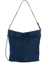 Mm6 Maison Margiela Button Closure Shoulder Bag Blue