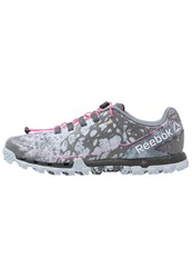 Reebok All Terrain Super Or Trail Running Shoes Dust Grey Pink Black Purple