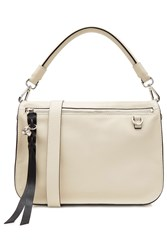Alexander Mcqueen Leather Convertible Satchel With Skull Beige