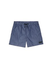 Acne Studios 'Perry' Gingham Check Print Swim Shorts Blue