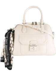 Love Moschino Scarf Detail Tote Nude And Neutrals