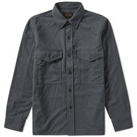 Beams Plus Fleece Overshirt Grey