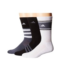 Adidas Cushioned Assorted Color 3 Pack Crew Socks Black Onix White Men's Crew Cut Socks Shoes