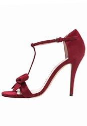 Pura Lopez Sandals Cherry Red