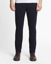 Knowledge Cotton Apparel Navy Blue Twill Chinos