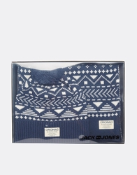Jack And Jones Jack And Jones Pat Scarf And Bobble Beanie Gift Set Blue