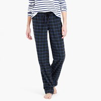J.Crew Midnight Plaid Flannel Pajama Pant