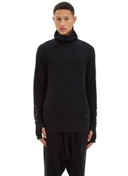 Y 3 Ribbed Roll Neck Zip Up Sweater Black