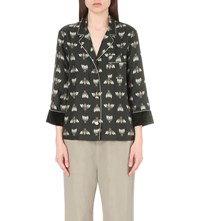 F.R.S. For Restless Sleepers Bee Print Silk Shirt Bees