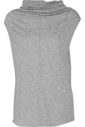 Enza Costa Pima Cotton Tank Light Gray