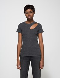 Lna Dropout Tee In Charcoal