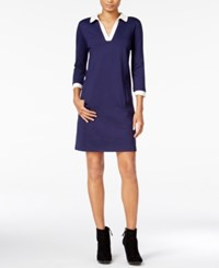 Maison Jules Contrast Shift Dress Only At Macy's Blu Notte