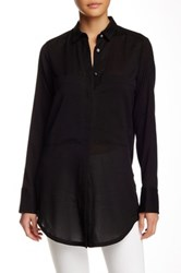 Helmut Lang Button Up Blouse Black