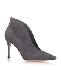 Gianvito Rossi Vania Suede High Back Ankle Boots Female Grey