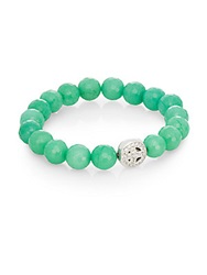 Anzie Boheme Jade And Sterling Silver Bracelet Green