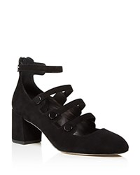 Rebecca Minkoff Blair Strappy Block Heel Mary Jane Pumps Black