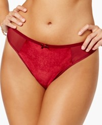 Maidenform Extra Sexy Velvet Thong Mfb111 Red