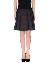 Jil Sander Navy Mini Skirts Maroon