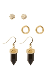 Forever 21 Rhinestone And Crystal Earring Set