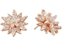 Nina Amarie Earrings Rose Gold Cz Earring Orange