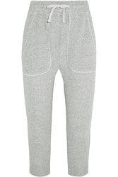 Nlst Cropped Cotton Jersey Track Pants Gray